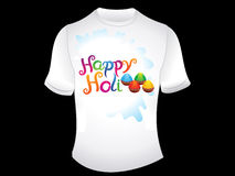 Abstract happy holi tshirt. Vector illustration Royalty Free Stock Photos