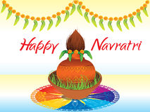 Abstract happy navratri background Royalty Free Stock Photo