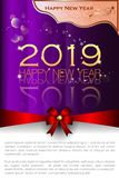 Abstract of Happy New Year 2019. stock illustration