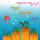 Abstract of Happy New Year 2015 Royalty Free Stock Photo