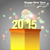Abstract of Happy New Year 2015 Stock Photos