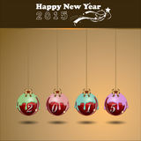 Abstract of Happy New Year 2015. Vector background. Vector Illustration, EPS 10 Royalty Free Stock Photography