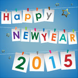 Abstract of Happy New Year 2015. Vector background. Vector Illustration, EPS 10 Stock Photos