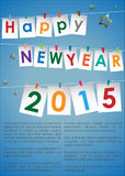 Abstract of Happy New Year 2015 Royalty Free Stock Photography