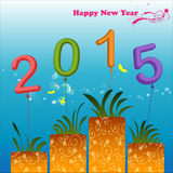 Abstract of Happy New Year 2015 Stock Images