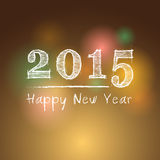 Abstract of Happy New Year 2015 Stock Image