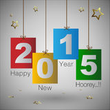 Abstract of Happy New Year 2015 Stock Photo