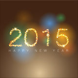 Abstract of Happy New Year 2015 Royalty Free Stock Photos