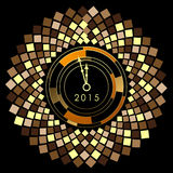 Abstract of Happy New Year 2015. Vector background. Vector Illustration, EPS 10 Royalty Free Stock Photos