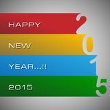 Abstract of Happy New Year 2015. Vector background. Vector Illustration, EPS 10 Royalty Free Stock Photo