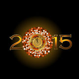 Abstract of Happy New Year 2015. Vector background. Vector Illustration, EPS 10 Stock Photography