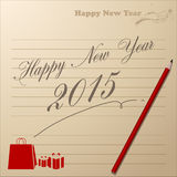 Abstract of Happy New Year 2015. Vector background. Vector Illustration, EPS 10 Royalty Free Stock Image