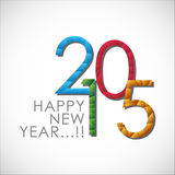Abstract of Happy New Year 2015 Royalty Free Stock Image
