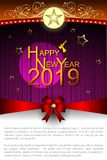 Abstract of Happy New Year 2019. vector illustration