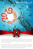 Abstract of Christmas Background. Abstract of Happy New Year 2019. Vector and Illustration, EPS 10 vector illustration