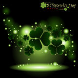 Abstract Happy St.Patrick Day. Stock Photo