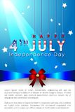 Abstract Happy 4th of July. Abstract Happy 4th of July, Memorial Independence Day Banner. Vector and Illustration, EPS 10 royalty free illustration