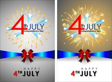 Abstract Happy 4th of July. Abstract Happy 4th of July, Memorial Independence Day. Vector and Illustration, EPS 10 royalty free illustration