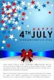 Abstract Happy 4th of July. Abstract Happy 4th of July, Memorial Independence Day Banner. Vector and Illustration, EPS 10 stock illustration