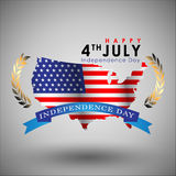 Abstract Happy 4th of July. Royalty Free Stock Photo