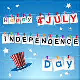 Abstract Happy 4th of July Royalty Free Stock Images