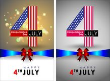 Abstract Happy 4th of July. Abstract Happy 4th of July, Memorial Independence Day. Vector and Illustration, EPS 10 stock illustration