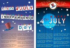 Abstract Happy 4th of July. Abstract Happy 4th of July, Memorial Independence Day. Vector and Illustration, EPS 10 vector illustration