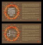 Abstract of Happy Thanksgiving Day stock illustration