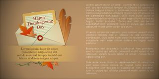 Abstract of Happy Thanksgiving Day royalty free illustration