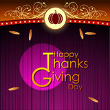 Abstract of Happy Thanksgiving Day. Stock Image