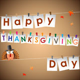 Abstract of Happy Thanksgiving Day. Stock Images