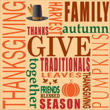 Abstract of Happy Thanksgiving Day. Royalty Free Stock Image