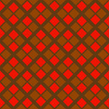 Abstract hard geometric seamless pattern in red and brown colors stock image