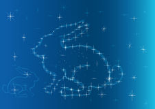 Abstract hare made of stars Royalty Free Stock Image