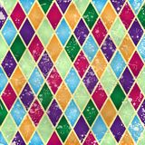 Abstract harlequin pattern with vintage texture Stock Photos