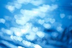 Abstract hart bokeh als achtergrond De dagachtergrond van de valentijnskaart Royalty-vrije Stock Afbeeldingen