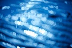 Abstract hart bokeh als achtergrond De dagachtergrond van de valentijnskaart Royalty-vrije Stock Foto