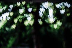 Abstract hart bokeh als achtergrond, oude uitstekende toon Royalty-vrije Stock Foto's
