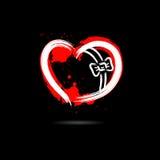 Abstract hart in de vorm van gift hand-drawn met vlekkenverf royalty-vrije illustratie