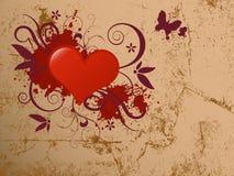 Abstract hart met grungeontwerp. Stock Afbeelding