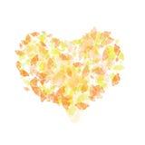 Abstract hart met kleurenuiteinde stock illustratie
