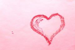 Abstract hart op een roze blad van document Royalty-vrije Stock Afbeeldingen