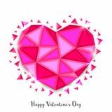 Abstract Hart voor de Dagviering van Valentine ` s Stock Fotografie