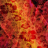 Abstract Hawaiian Floral illustration Royalty Free Stock Image