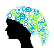 Abstract head silhouette Royalty Free Stock Photography