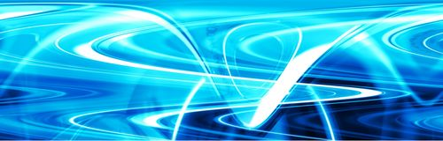Abstract Header 300b. Abstract wave header, could be used as a template. I am copyright holder of photos used in montage Vector Illustration
