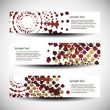 Abstract header or banner designs Stock Photos