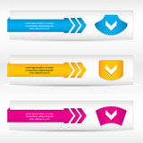 Abstract header banner set Royalty Free Stock Photos