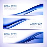Abstract header blue wave white design Royalty Free Stock Images