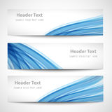 Abstract header blue wave white vector design.  royalty free illustration